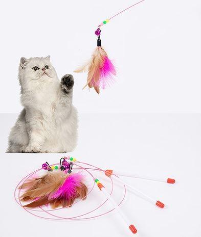 고양이 방울 낚시대 장난감