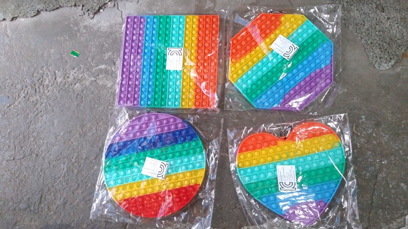 30cm버블팝 원 네모 하트 육각형