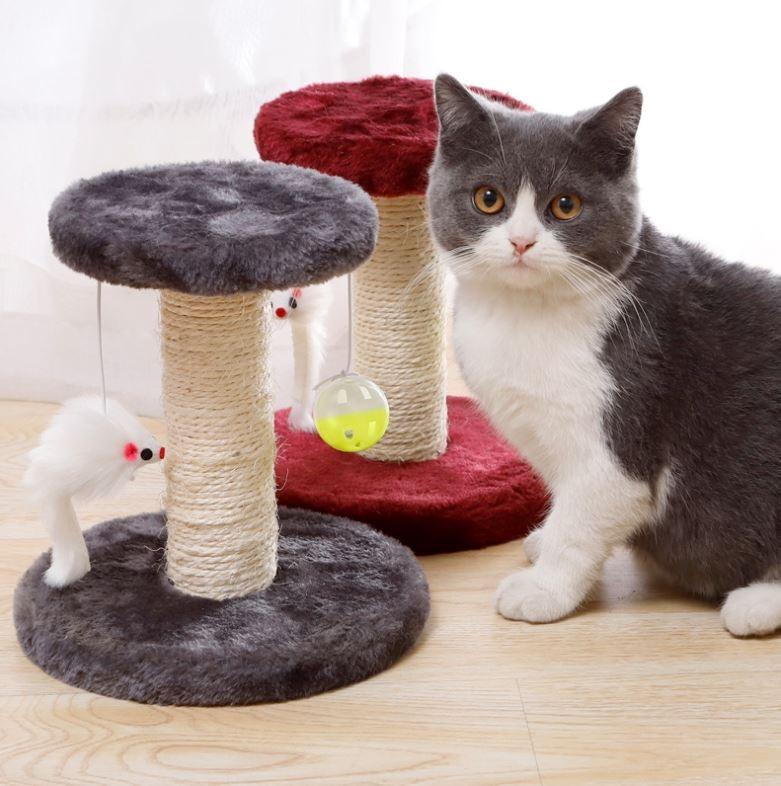 고양이 기둥 스크래쳐(4-색상)