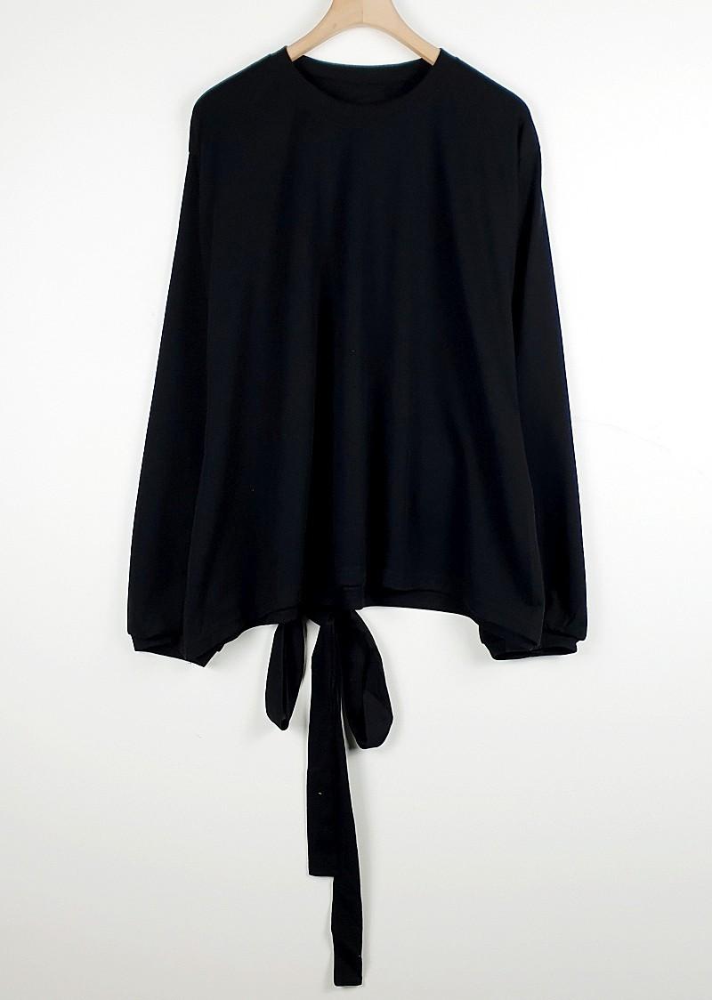 zz1651 허리리본 무지 티셔츠 완사시 1,800원(O)