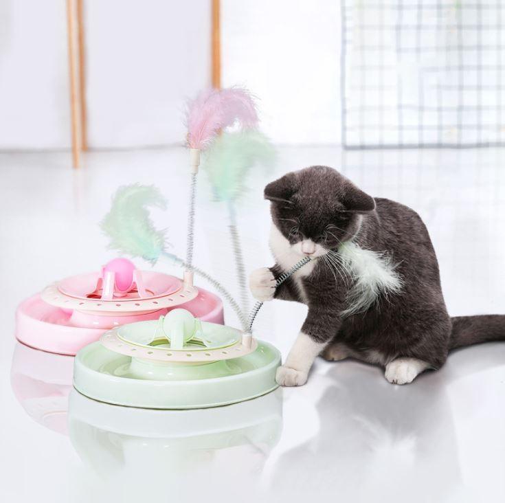고양이 턴테이블 장난감