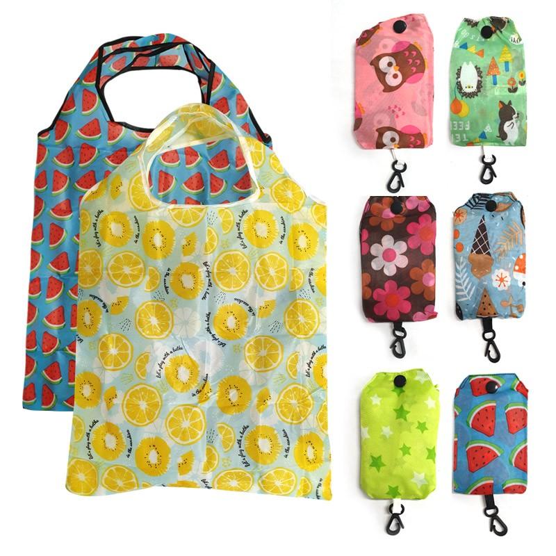 휴대용 접이식 미니 장바구니 시장가방 에코백 답례품 보조가방 개별포장