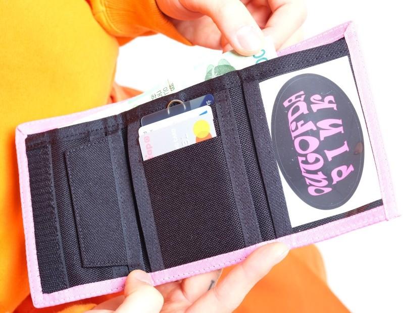 벨크로 지갑입니다.//