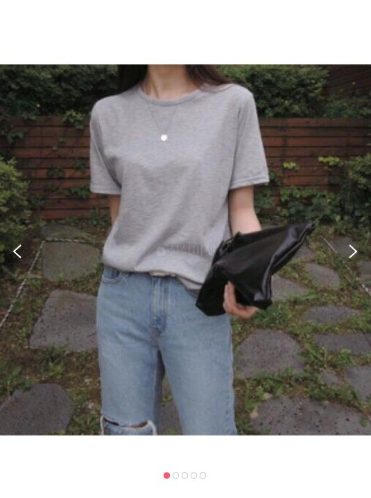 (완사입/파샬) 봄 여름 무지 라운드 반팔티 티셔츠 이프유t/40장/2500/a11