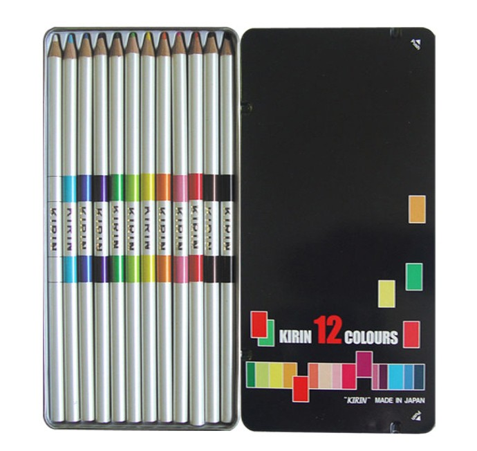 KIRIN 기린 투컬러 색연필 12색 세트