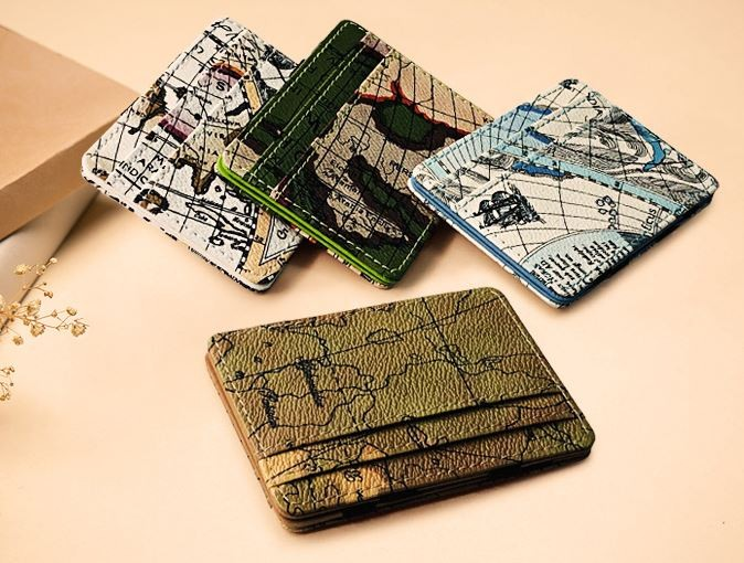 세계지도 양면 매직 지갑
