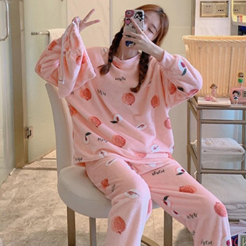 겨울 파자마세트 동물 홈웨어 수면잠옷 극세사 바지 커플 상하세트