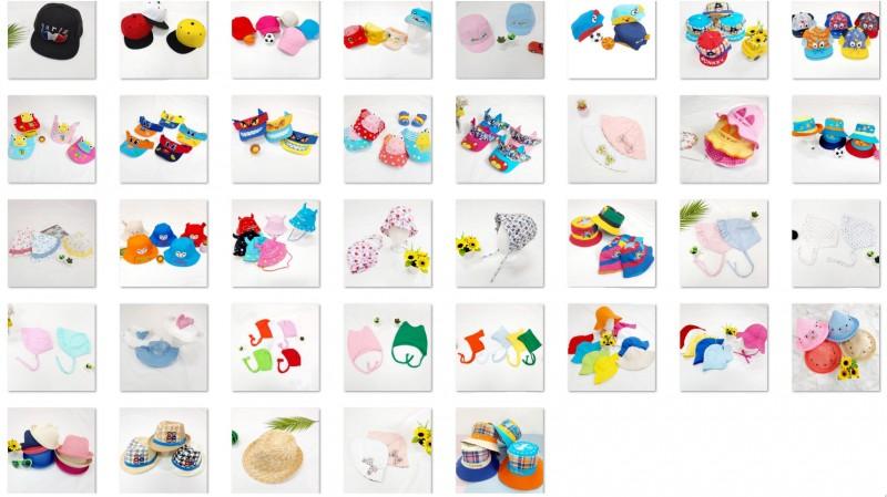 유아동 모자 약 7천개 300원씩