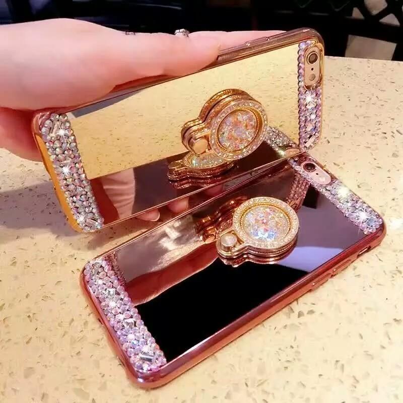 [휴대폰케이스]화려한큐빅밀러 핸드폰케이스입니다