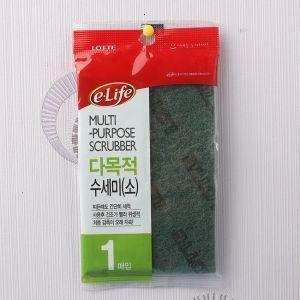 1p 롯데 이라이프 다목적 수세미(소) (10cm×15cm)
