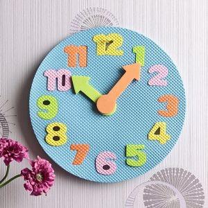 14p 시계 모양 퍼즐 숫자 매트