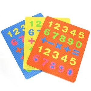 사각 퍼즐 숫자 매트