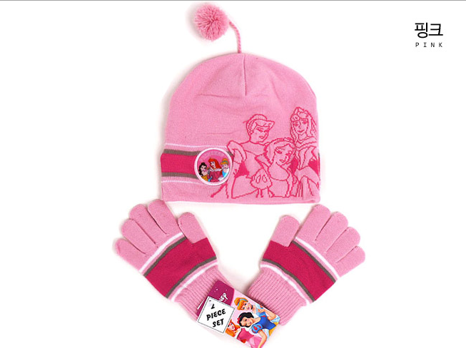 프린세스 방울 모자 장갑세트