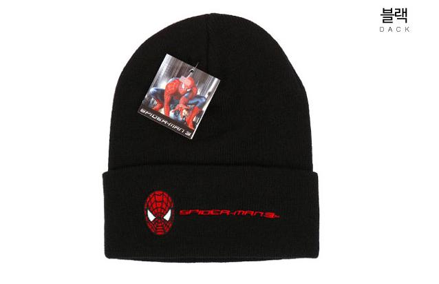 스파이더맨 자수 비니 모자