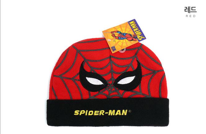 스파이더맨 샤프 비니 모자