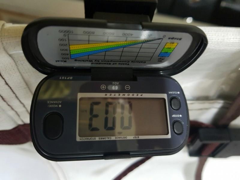 덤핑 다기능 만보기, 칼로리/시계/걸음수/킬로미터수 계산