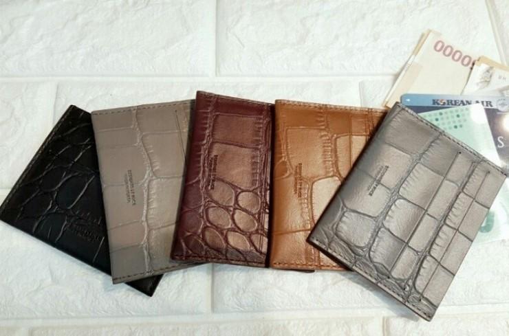 소가죽 카드지갑 동전지갑 커플지갑 / 플랩 / 큰무늬지갑
