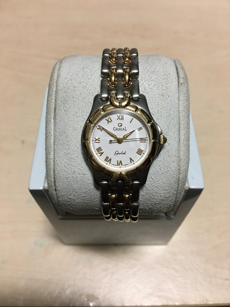 엔틱시계 샤갈 골드 티타늄 여성용 시계 입니다.