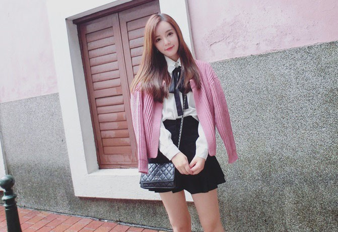 [베이비챔프] 블링리본 셔츠 스커트 / 하객룩 , 데이트룩