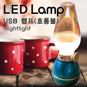 USB 호롱불램프(무드등) 입으로 후~불어서 불을 켰다껏다!!!!