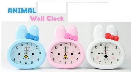 무소음벽시계(토끼.가로29.5cm/세로35cm)