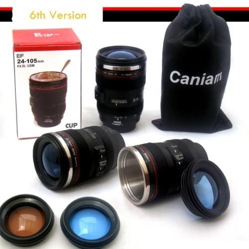카메라 렌즈 EF24-105mm 커피 잔 컵