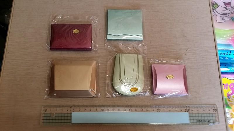 휴대용 양면 손거울 또는 빗거울세트