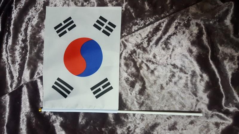 대한민국 태극기 수기 손태극기 응원 국기 깃발 한국 집회 만세 체육대회