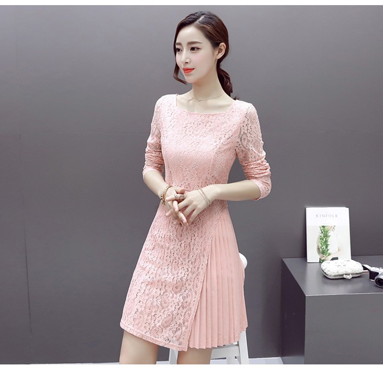 [CESS] #DB-409 여성용 레이스 드레스 -검정 블루 핑크