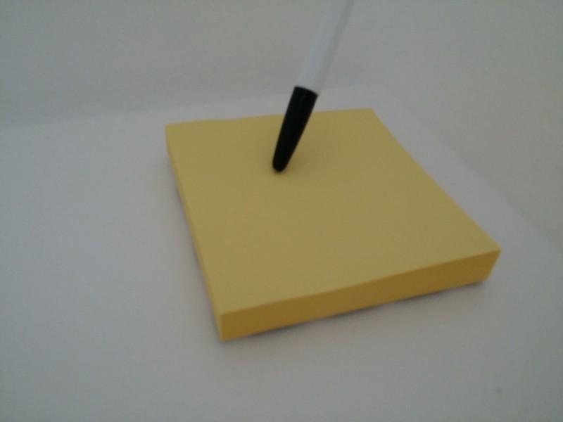 노란 포스트잇 7.6cm 접착식 메모지 100개