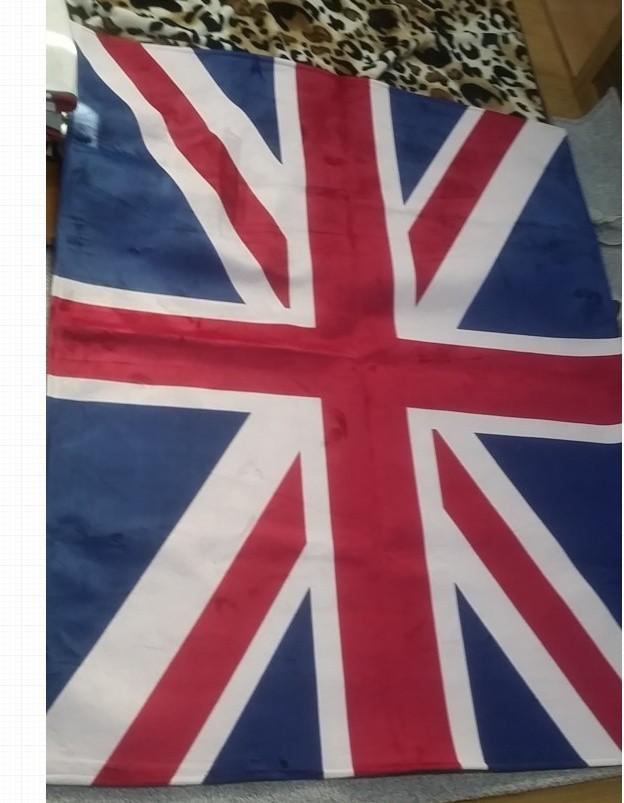 유니언 잭 극세사 카페트 신상 영국기 직사각(150cm x 200cm)