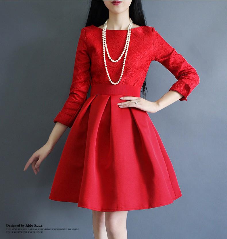 [CESS] #DF-709 여성용 드레스 - 레드, 블랙