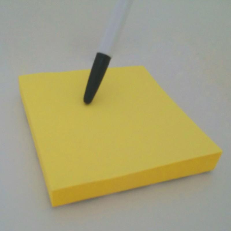 노란 포스트잇 7.6cm 접착식 메모지 150개 35,000원