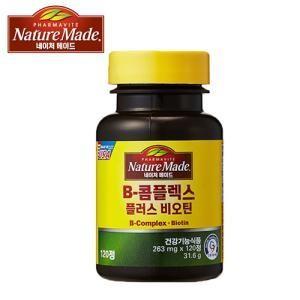 [네이처메이드] 비타민B 콤플렉스 플러스 비오틴 (263mg x 120정 / 60일분)