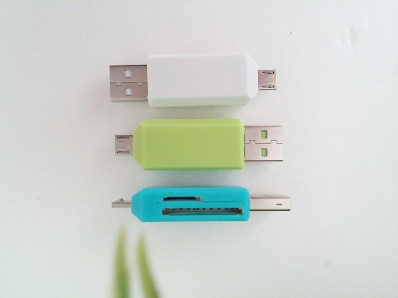 마이크로 메모리카드 리더기 2 in 1 블랙박스 핸드폰 메모리