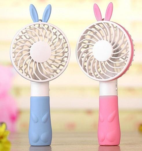 토네이도 휴대용 토끼 핸디형 선풍기 (색상/램덤)