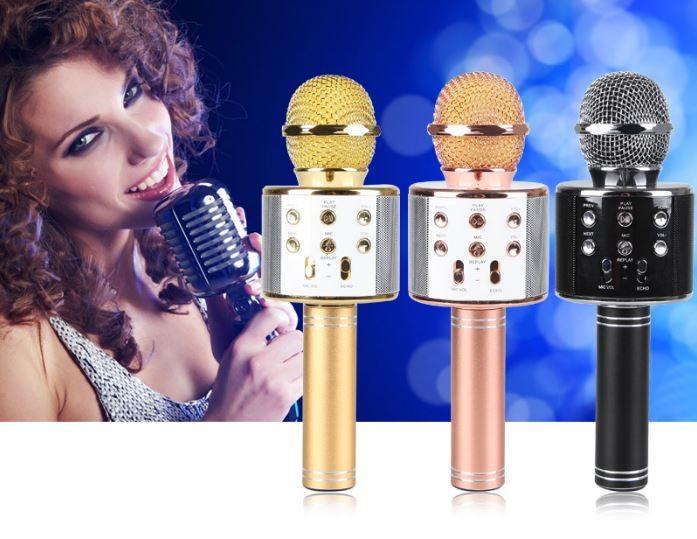 WS-858 휴대용 블루투스 노래방마이크