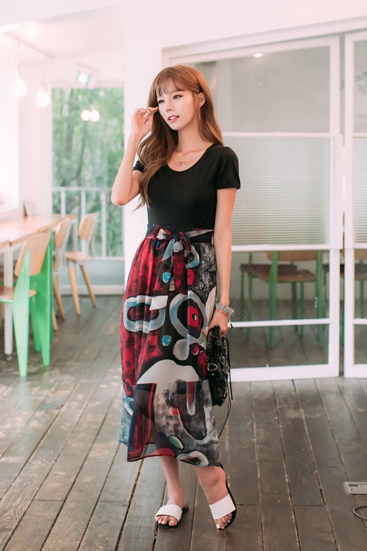 [CESS] #DN804 여성용 쉬폰 드레스 - 블랙