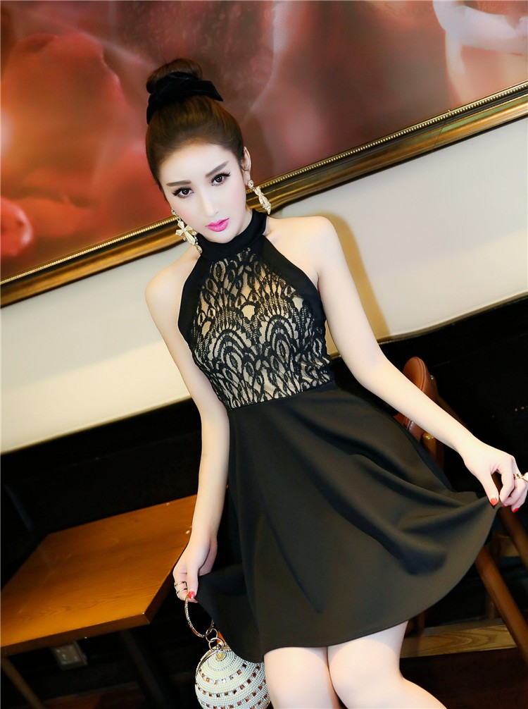 [CESS] #DN808  레이스 드레스 - 블랙, 화이트