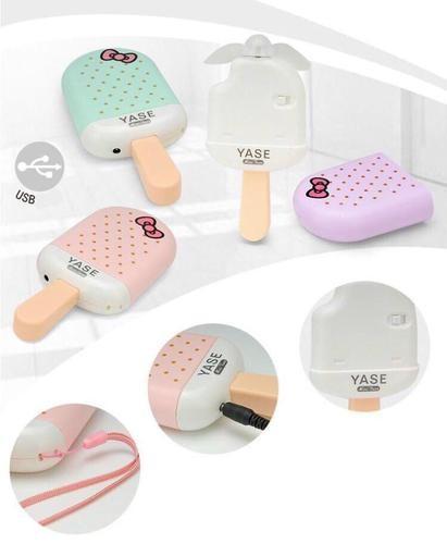 YASE 아이스크림 충전식 핸드선풍기