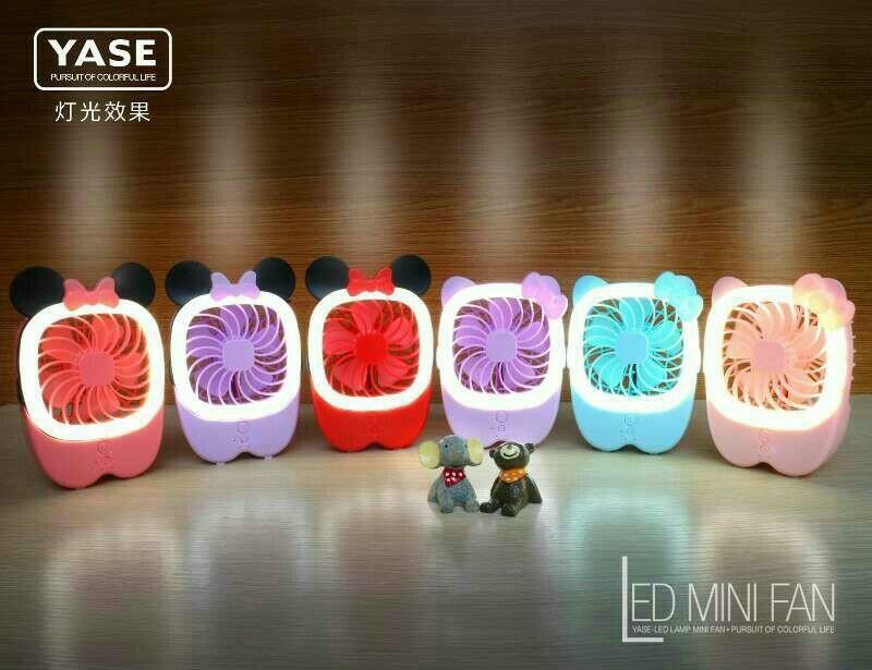 ★인기★ LED 충전식 탁상 선풍기 ★ 고양이, 마우스