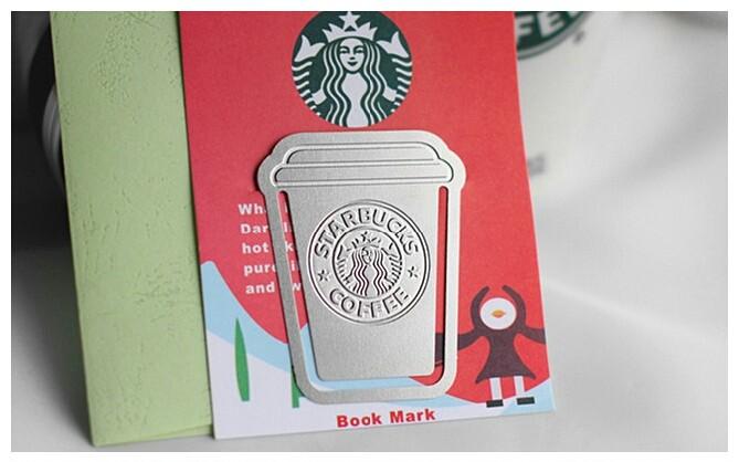 스타벅스 금속 책갈피 북마크  단체선물 학습지 기념품 개업선물