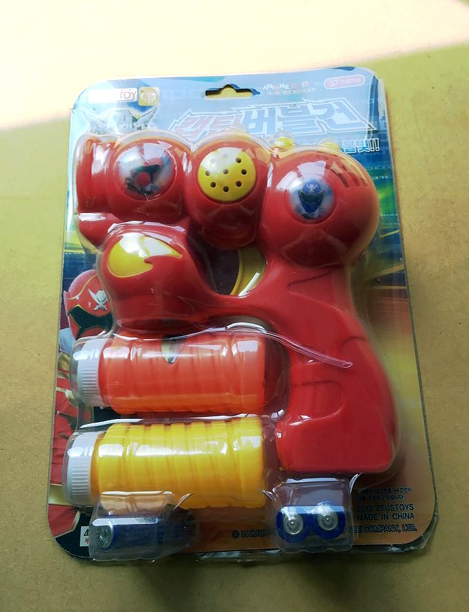 파워레인저 캡틴포스 버블건 자동 비눗방울 아동 장난감 놀이공원