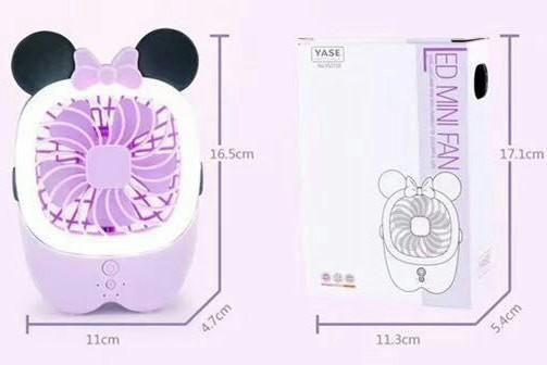 LED 선풍기, 충전식 휴대용(탁상)선풍기