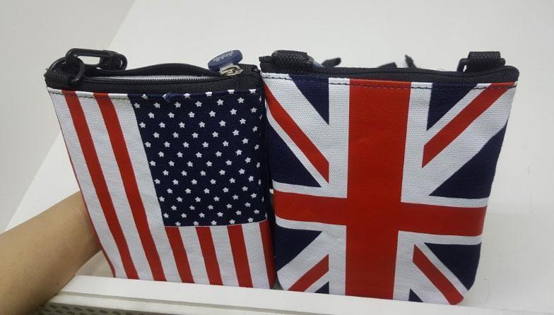 영국 미국국기 크로스백 2종