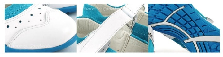 캔디나무 화이트 세무단화 아동 신발 찍찍이 운동화 블루 포인트