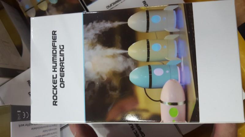 로켓 led 가습기 무드등 usb 휴대용 공기청정 공기정화 랜턴 램프