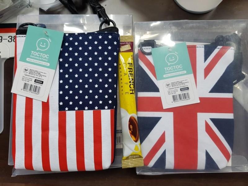 [새제품] 영국국기/미국국기 크로스백 2종