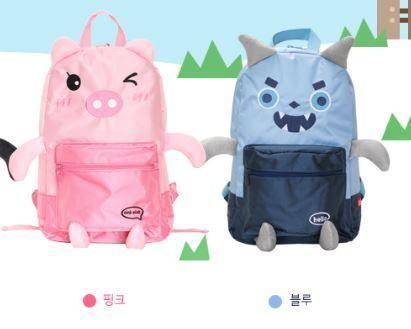 [새제품] 핑크돼지, 블루 몬스터 인형 백팩 2종택1