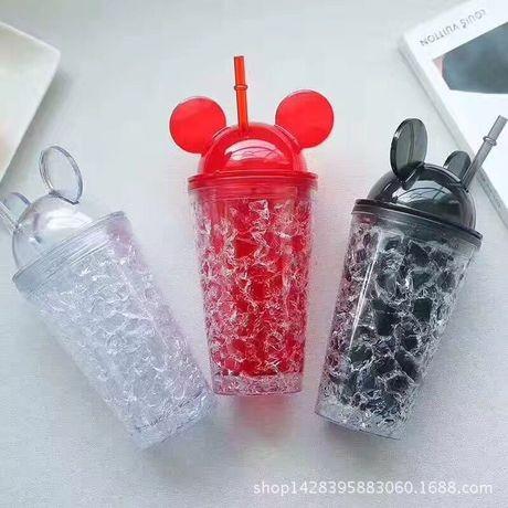 미키마우스 콜드컵 텀블러 450ML 빨대컵 빨대텀블러 사은품 기념품 단체선물 개업선물